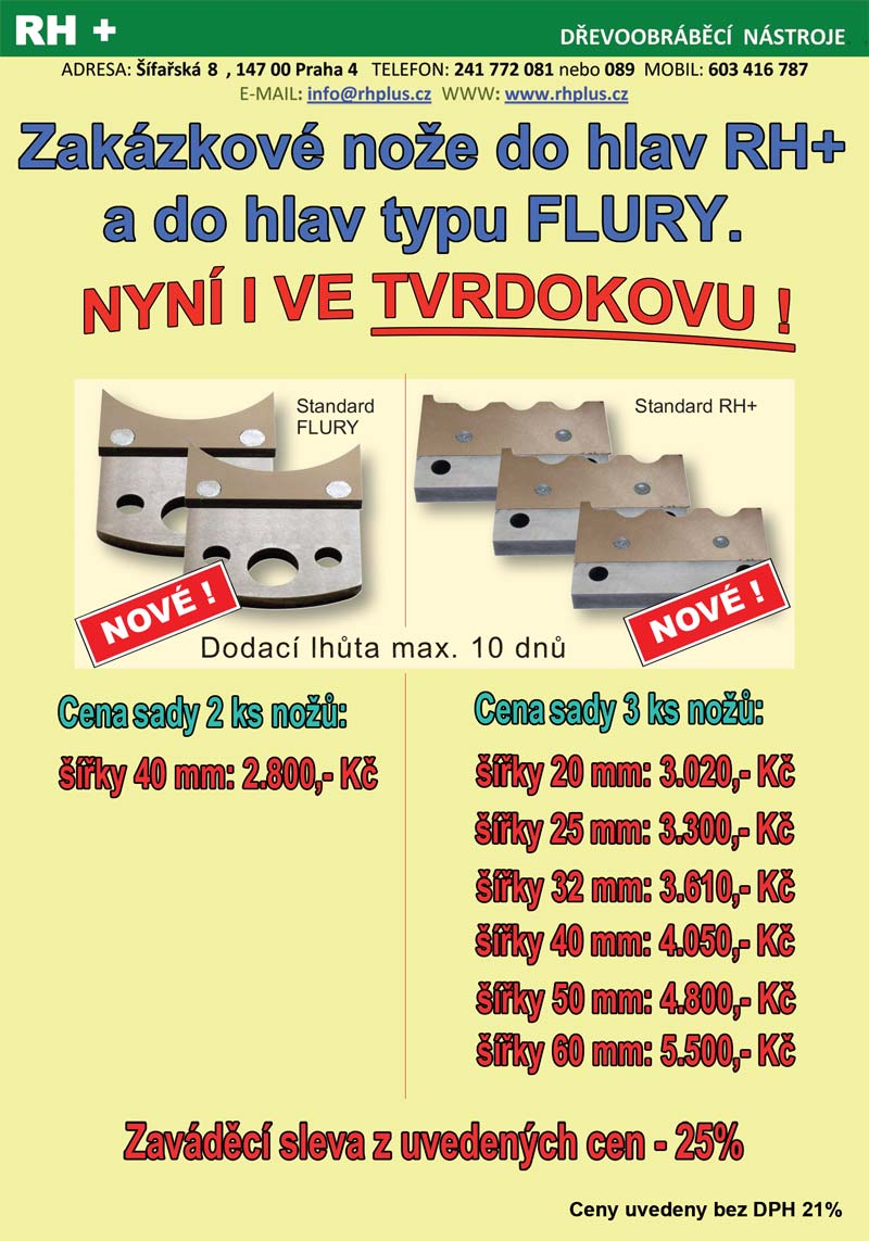 RH PLUS - dřevoobráběcí nástroje